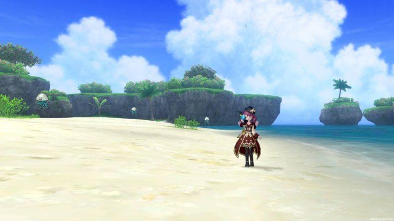 砂浜にはしびれくらげがいっぱい浮いてます