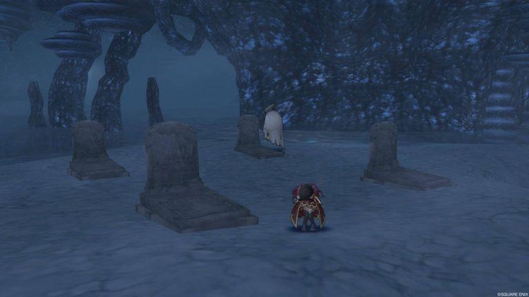 古いお墓なんかもあり、BGMもないからホラーですねw